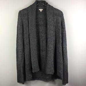 Sonoma chunky grey knit cardigan sweater.